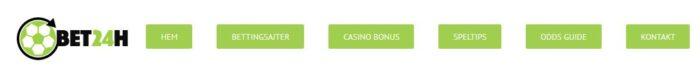 Förklarat Casino och betting hos Bet24h.se